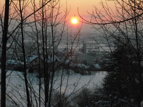 zachód słońca #zima #ZachódSłońca