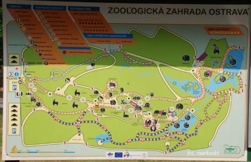 mapka Zoo w Osrtavie.... #animals