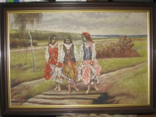 cyganki #cyganki #allegro #aukcja #obraz #antyk #olej