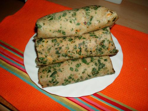 Krokiety z mąki gryczanej z halibutem