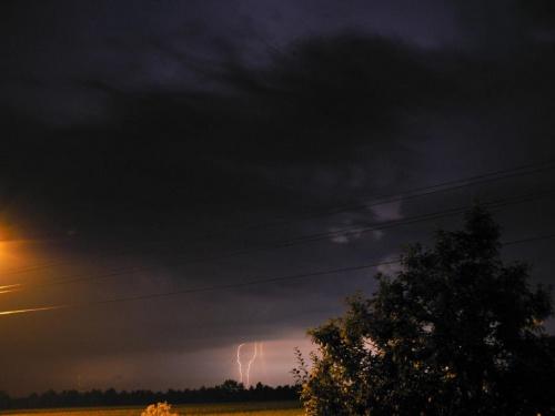 #burza #błyskawica #niebo #chmury #noc #piorun