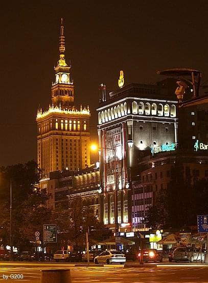Warszawa #Warszawa #PKiN #noc #miasto #Olympus