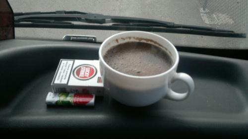 Poranny rozrusznik #kawa #fajki #kubek