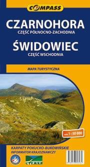 Czrnohora i Świdowiec Mapa
