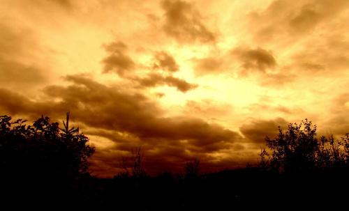 o zachodzie #chmury #niebo #zachod #slonce