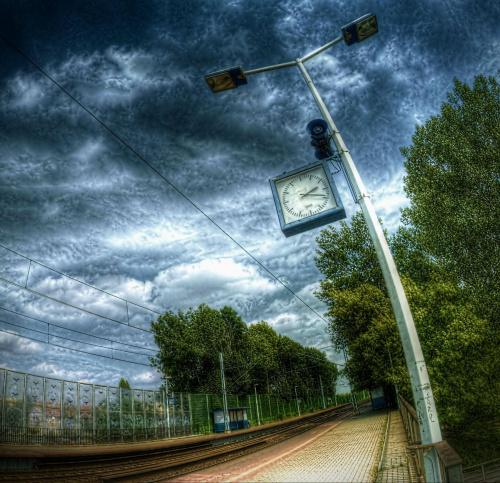 Opole, dworzec zachodni #hdr #opole #zegar