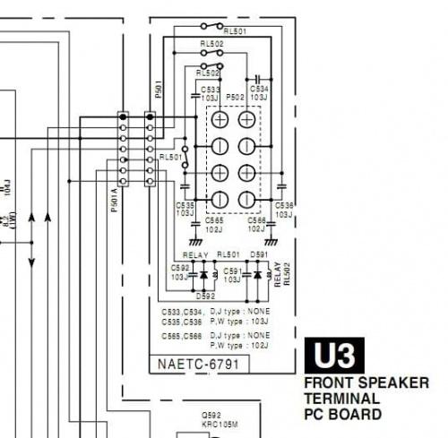 Onkyo TX-DS494 brak dźwięku na wyjściu mocy