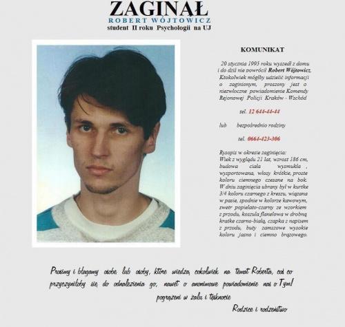 ... #Kraków #małopolskie #Missing #RobertWójtowicz #zaginął #PoszukiwanieOsóbZaginionych #Aktualności #Zaginieni #Poszukiwani #ProsimyOPomoc #KtokolwiekWidział #KtokolwiekWie #AdnotacjaPolicyjna #Apel #Fiedziuszko #ITAKA #MissingPerson
