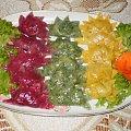 Pierogi ,, zabawa kolorami ,, #pierogi #obiad #DaniaMączne #szpinak #buraki #kulinaria #gotowanie #jedzenie #PrzepisyKulinarne