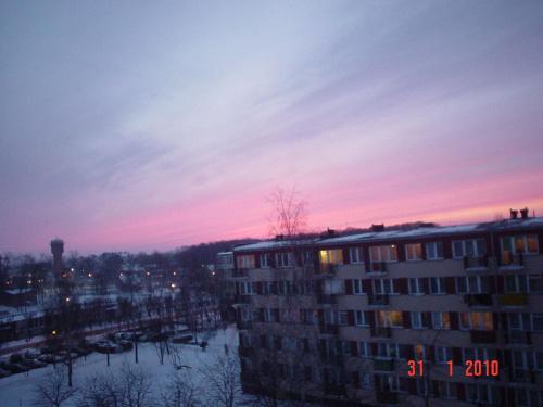 Zimowy zachód slońca.
