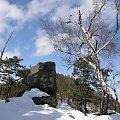 Widok na Sokolik w Rudawach Janowickich.. #Góry #RudawyJanowickie #zima