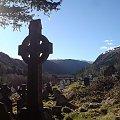 Krzyż celtycki na cmentarzu w Górach Wicklow,Irlandia #krzyż