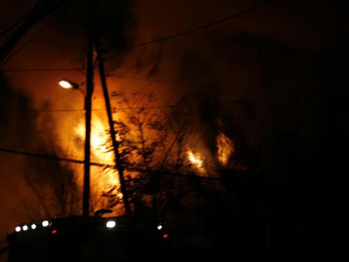 Pożar w Bronowicach W. 6listopada08 #pożar #bronowice #ogień