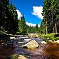 Na pograniczu Polsko-Czeskim #rzeka #las #potok #chmury #niebo #krajobraz
