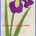 Haftowany irys 1 #kwiat #irys #haft