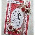 W kolorze miłości #Kartka #życzenia #czerwień #miłość #ślub