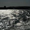 powrót do Kołobrzegu na horyzoncie brzegi Bornholmu miejscowość Nexxo #Bornholm #wyspa #Dania
