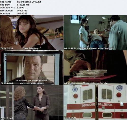 Machete / Maczeta (2010) R5 LiNE XviD-ViSiON Napisy PL