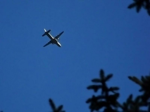CASA nad Wawą #ParkUjazdowski #Warszawa #niebo #samolot