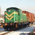 Stacja Brodnica SM-42 1133 ZT Olsztyn + wagon Gbs w kierunku Grudziądza #Brodnica #Lokomotywa #Kolej #Gbs #Pociąg