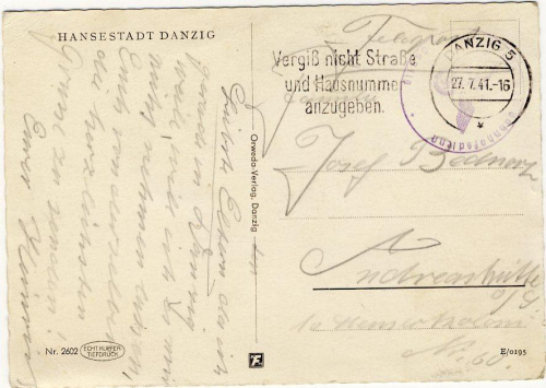 DANZIG 27,07,1941