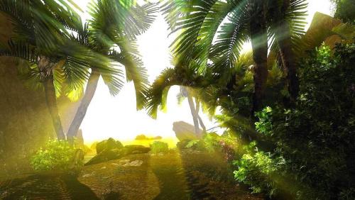 To słoneczne zdjęcie zrobiłem w grze, która nazywa się Risen. A zrobiłem je dlatego, że brakuje mi słońca i bardzo chciałbym kiedyś wyjechać na tropikalną podróż w takie miejsce jak to :) #Risen #księżyc #tropical #island #tropikalna