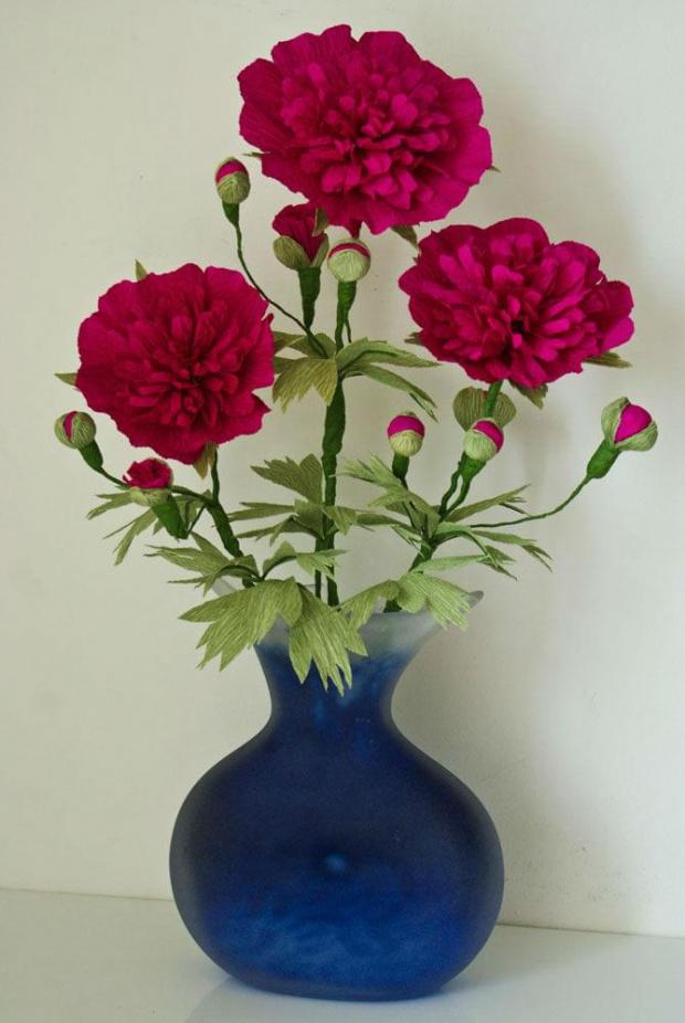 Peonie #bibuła #dekoracje #hobby #KompozycjeKwiatowe #krepina #KwiatyZBibuły #MojePrace #pomysły #RobótkiRęczne